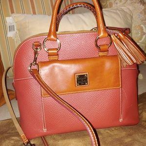 Dooney & Bourke pristine Aubrey domed satchel